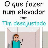 O que fazer num elevador