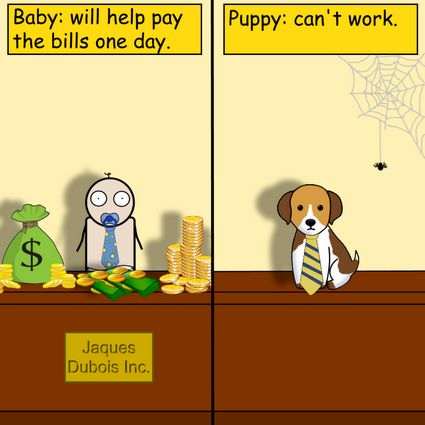 Puppy vs Baby by Pipanni