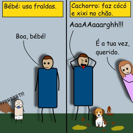 Cachorro vs Bébé by Pipanni
